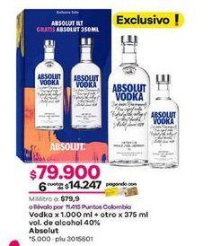 Oferta de Vodka Absolut por $79900