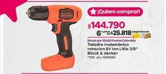 Oferta de Taladro eléctrico Black & Decker por $144790