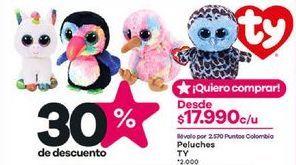 Oferta de Peluches animales por $17990