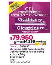 Oferta de Gel hidratante Cicatricure por $79950