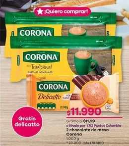 Oferta de Chocolate Corona por $11990