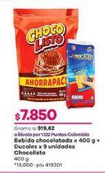 Oferta de Bebida achocolatada Chocolisto por $7850