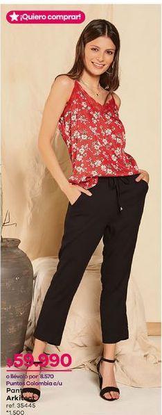 Oferta de Pantalones mujer por $59990