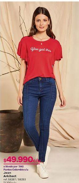Oferta de Jeans mujer por $49990