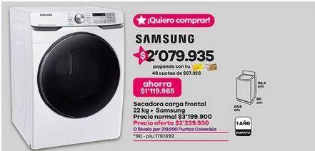 Oferta de Secadora Samsung por $2239930