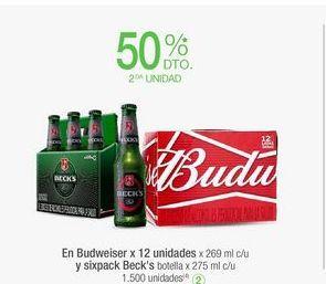Oferta de Cerveza Budweiser por
