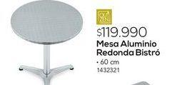 Oferta de Mesa aluminio redonda por $119990