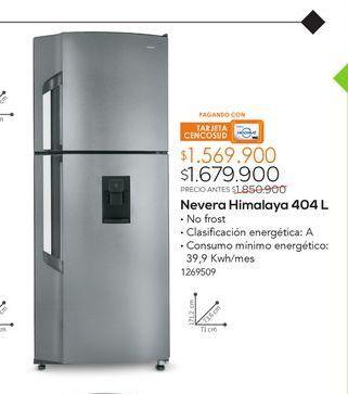 Oferta de Nevera Himalaya 404L por $1679900