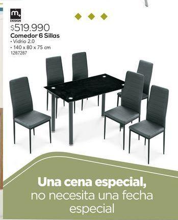 Oferta de Comedor 6 sillas por $519990