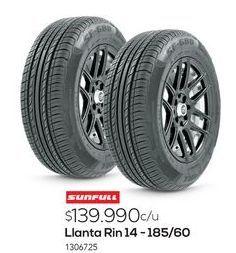 Oferta de Llantas Sunfull por $139990