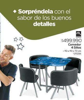 Oferta de Comedor 4 sillas por $499990