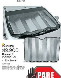 Oferta de Parasol para automovil Datrak por $19900