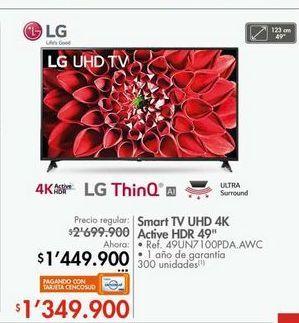 Oferta de Smart tv led LG por $1449900