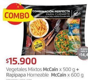 Oferta de Verduras congeladas McCain + rapipapa horneable 600g por $15900