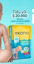 Oferta de Pañales ekono por $20950