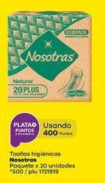 Oferta de Toallas higiénicas Nosotras por