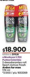 Oferta de Desodorante roll on Arden For Men por $18900