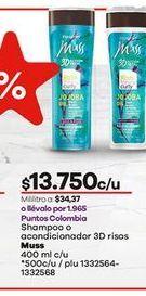 Oferta de Shampoo Muss o acondicionador por $13750
