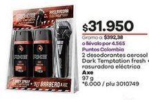 Oferta de Desodorante spray Axe por $31950