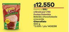 Oferta de Bebida achocolatada Chocolisto por $12550