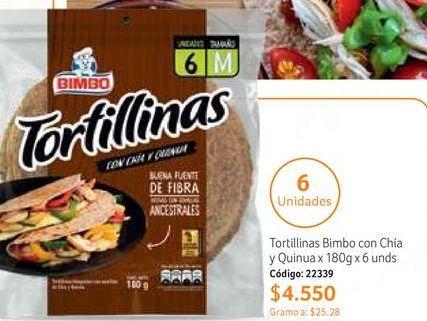 Oferta de Tortilla Bimbo por $4550