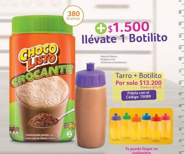 Oferta de Bebida achocolatada Chocolisto + $1500 llevate 1 botilito por $13200