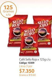 Oferta de Café Sello Rojo por $7350