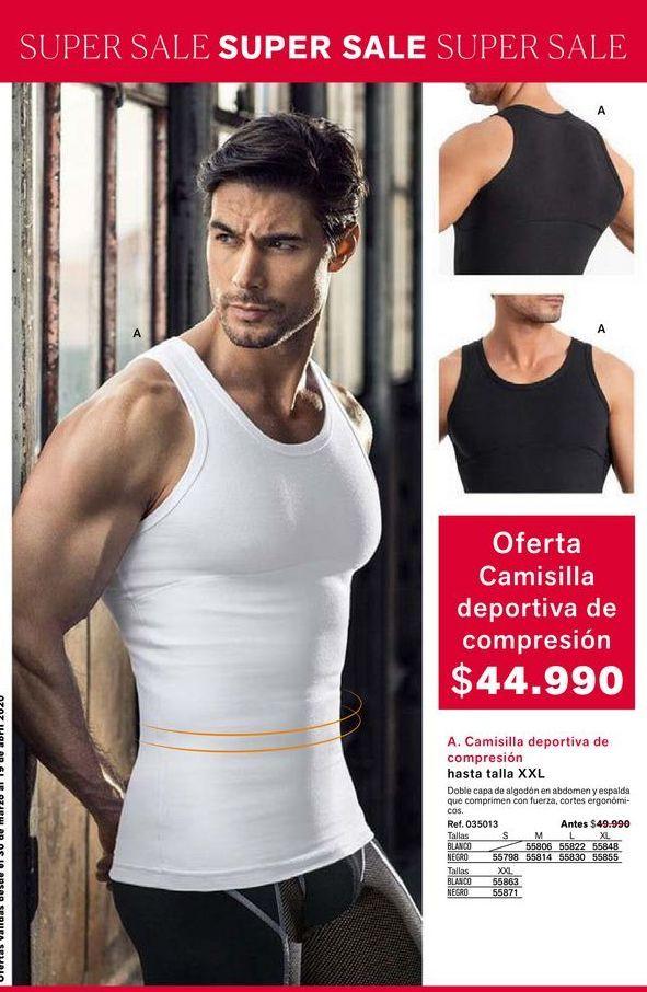 Oferta de Camisilla deportiva de comprension hasta talla xxl  por $44990