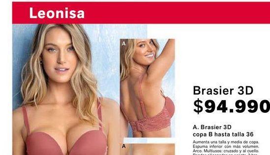 Oferta de Brasier 3D copa B hasta talla 36 por $94990