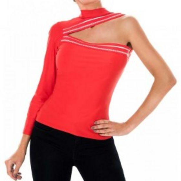Oferta de Blusa Asimetrica Lycra Roja por $34000