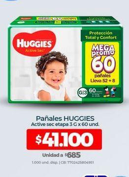 Oferta de Pañales Huggies por $41100