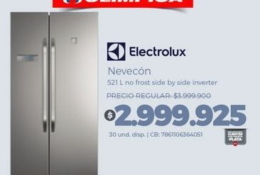 Oferta de Heladera Electrolux por $2999925