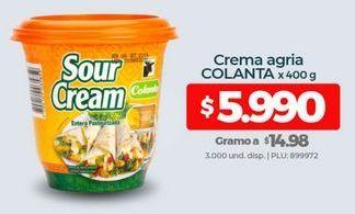 Oferta de Crema agria Colanta por $5990