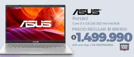 Oferta de Computador Portátil Asus por $1499990