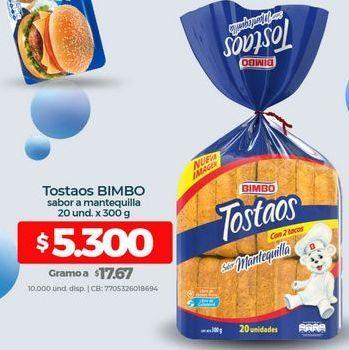 Oferta de Tostadas Bimbo por $5300