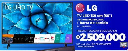 Oferta de Tv led 55'' LG + barra de sonido por $2509000