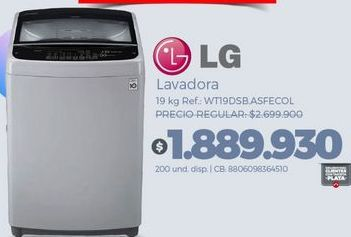 Oferta de Lavadora carga superior LG por $1889930