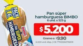 Oferta de Pan de hamburguesa Bimbo por $5200