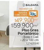 Oferta de Pisos GRES PORCELANICO DALI CAFE 20X100 1M2 por