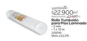Oferta de ROLLO YUMBOLON 2MM REFORZADO BCO 1MX10M por