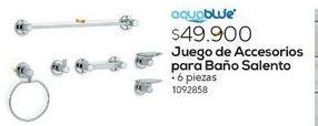 Oferta de Accesorios para baño JUEGO ACC. BANO SALENTO X 6PZ CROMADO por
