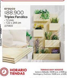 Oferta de TRIPLEX FENOLICO 12MM 122X244 por
