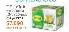 Oferta de Té verde Tosh por $7890