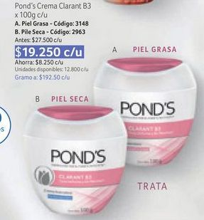 Oferta de Crema hidratante facial Pond's por $19250