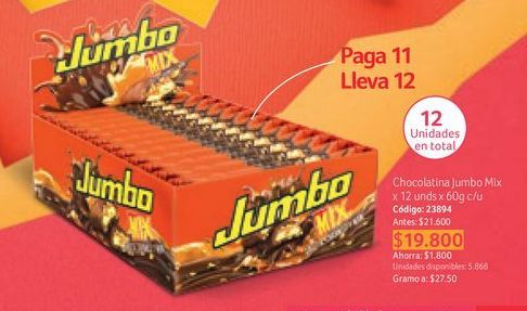 Oferta de Chocolatinas Jumbo por $19800