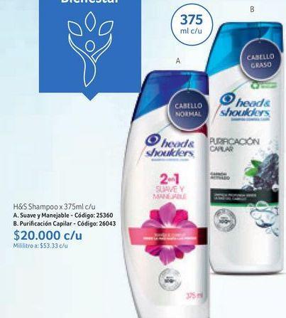 Oferta de Shampoo H&S por $20000
