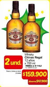 Oferta de Whisky Chivas Regal por $159900