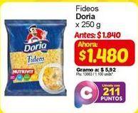 Oferta de Fideos Doria por $1480