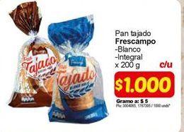 Oferta de Pan tajado frescampo por $1000