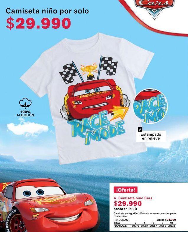 Oferta de Camiseta niño por $29990
